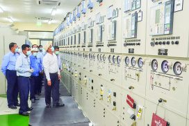 Electricity and Energy Union Minister inspects No (1) Oil refinery, Thilawa power station, 230KV Thilawa substation