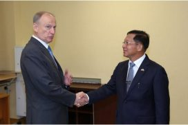 State Administration Council Chairman Commander-in-Chief of Defence Services Senior General Min Aung Hlaing holds separate meetings with Security Council Secretary of Russian Federation, Director-General of Rosoboronexport Company