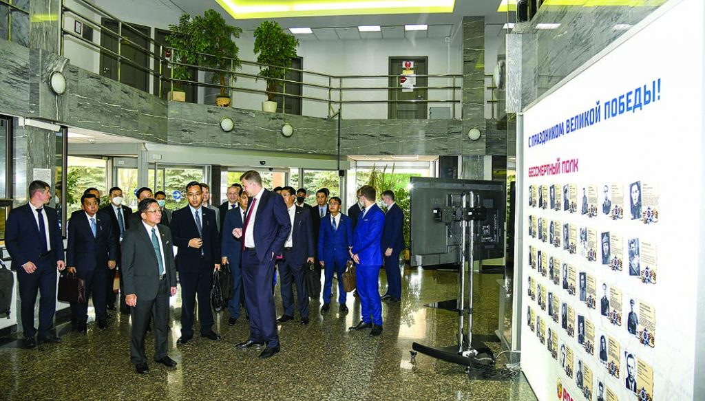 State Administration Council Chairman Commander-in-Chief of Defence Services Senior General Min Aung Hlaing and party visit Rosoboronexport Company, Ostankino Tower in Moscow