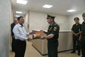 Delegation led by Chairman of State Administration Council Commander-in-Chief of Defence Services Senior General Min Aung Hlaing visits Kazan Higher Tank Red Banner Command School in Kazan, Republic of Tatarstan