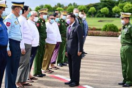 The delegation led by Chairman of the State Administration Council Commander-in-Chief of Defence Services Senior General Min Aung Hlaing leaves for Russia to attend 9th Moscow Conference on International Security-2021 (MCIS-2021)