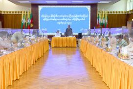 Union Minister for IFER meets with Chairman and members of Rakhine State Investment Committee