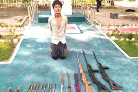 One terrorist arrested with guns, bombs and swords in Dabayin, Sagaing