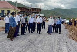 Union Minister U Shwe Lay inspects transport, housing development programmes of Mandalay Region
