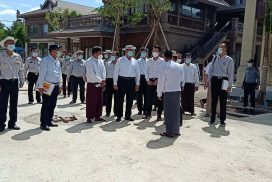 Union Minister for Construction inspects urban development works in Mandalay