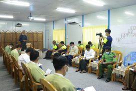 Union Minister U Aung Naing Oo inspects investment activities in Kachin State
