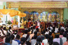 Final rites held for late Presiding Nayaka of Maha Withutayama Myoma Zaygon Pariyatti Buddhist Learning Centre of Pyinmana in Nay Pyi Taw Sayadaw Bhaddanta Tejosara