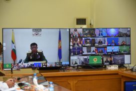 Union Minister General Mya Tun Oo attends  8th ASEAN Defence Ministers' Meeting Plus