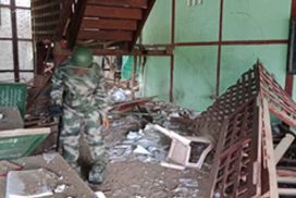 Two bombs exploded at BEHS in Momauk Township