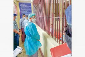 Human Rights Commission inspects Toungoo prison including prison cells of police stations