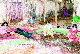 Mutra mat production industry of Pantanaw Township contributes to socio-economy of local people