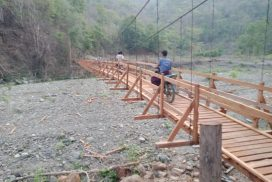 Suspension bridge in Shinorain Village ready to give transaport service