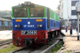 Myanma Railways operates rail transportation services normally
