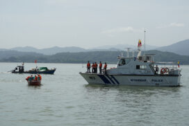 Disaster search, rescue drills conducted in Kawthoung