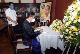 Condolence letter signed for demise of former Philippines President Benigno S. Aquino III