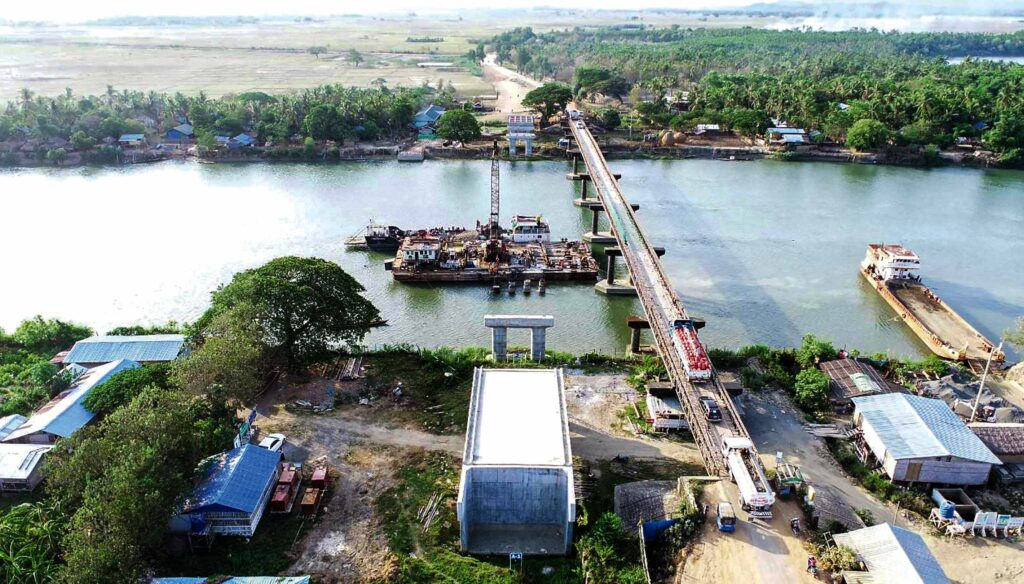 Myaung Bway Bridge project completed 53%