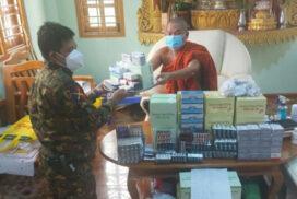 Tatmadaw provides anti-COVID-19 equipment, oxygen tanks