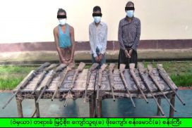 Two men arrested with 13 percussion lock firearms in Paungde