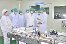 Union Minister for Industry inspects factories in Yangon Region