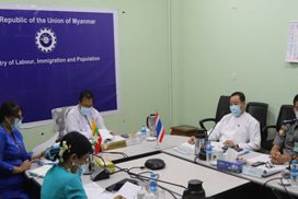 Myanmar-Thai experts on workers discuss migrant workers' affairs