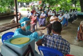 People over 65 vaccinated in Amarapura Township