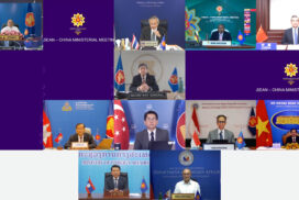 Union Minister U Wunna Maung Lwin participates in Second Mekong-US Partnership Ministerial Meeting via Videoconferencing