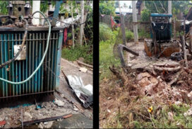 Terrorists blow up 100 kVA transformer used for water supply in Pekhon