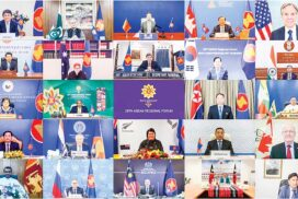 Union Minister for Foreign Affairs U Wunna Maung Lwin participates in 28th ASEAN Regional Forum (ARF)