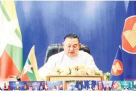 Union Minister for Foreign Affairs U Wunna Maung Lwin participates in AEAN-European Union Ministerial Meeting
