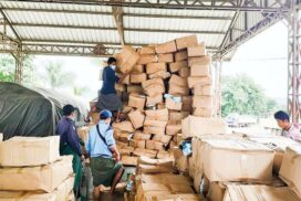 Non-stop imports of essential medical supplies distributed daily