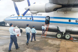 COVID-19 vaccines distributed nationwide by Tatmadaw aircraft