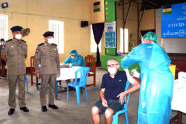 Second COVID vaccination of prisoners begins at Insein prison