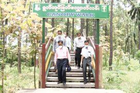 H&T Union Minister inspects Ngalaik Sakhantha Elephant Camp