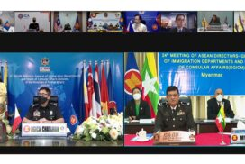 Myanmar attends 24th ASEAN DGICM through videoconferencing to discuss initial steps of Master Plan on ASEAN Connectivity (MPAC)