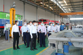 Union Minister for Transport and Communications inspects subordinate departments in Nay Pyi Taw