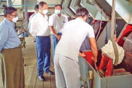 Union Minister for NREC inspects construction of Shwekyapin jewellery market