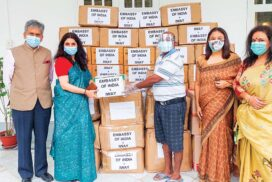 Indian Embassy, IWAY donate medical supplies to Myanmar people from 130 villages in Bago Region