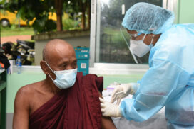 Covid-19 vaccination continues in Nay Pyi Taw council area