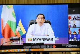 Union Minister U Ko Ko Hlaing participates in 14th Mekong-Japan Foreign Ministers' Meeting via video conference
