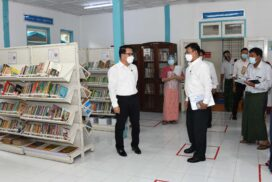 Union Information Minister inspects community centre (Pyinmana), gives instructions for youth development