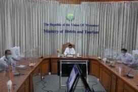 Union Minister Dr Htay Aung attends CLMVT Plus Forum 2021