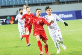 Myanmar placed in Group D of Asian Cup Women's Qualifiers