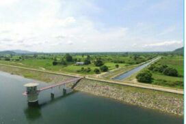 Upgraded Marle Nattaung dam to irrigate more than 3,200 acres of monsoon crops this year in Singu