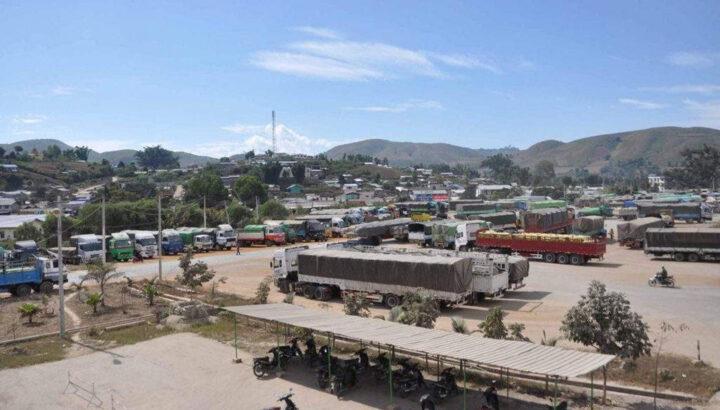 The border trade camp located at 205 Mile Muse. Photo Pho Kwar mk