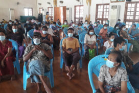 Nearly 1,000 people vaccinated against COVID-19 in Monywa