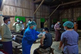 COVID-19 second dose administered in Pannandin, Kachin State