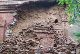 Heavy rainfall damages Thanpyinswa Temple in Bagan Cultural Zone