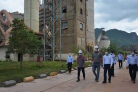 MoNREC Union Minister inspects limestone mining, cement plant, conservation works in Mandalay Region