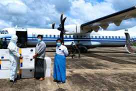 Tatmadaw aircraft transports Sinopharm vaccines to  Kengtung Township