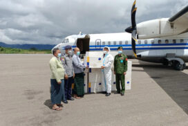 COVID-19 vaccines for 90,000 people in northern Shan State arrive in Lashio